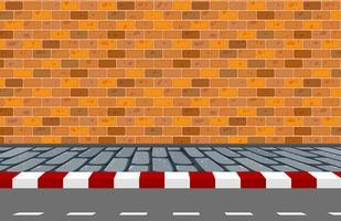 Een straat achtergrondscène vector