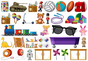 Stel od kinderen speelgoed in vector