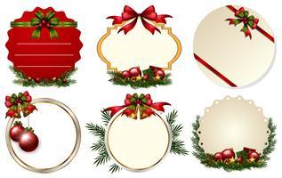 Zes verschillende kerst notitiesjabloon vector