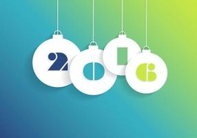 Heldere 2016 Holiday Balls Vector Achtergrond