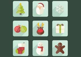 Kerst pictogram vector set
