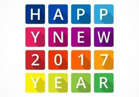 Kleur geblokkeerd Nieuwjaar Vector Achtergrond