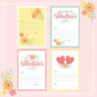 alentine's Day kalligrafie belettering wenskaart afdrukbare set ontwerp voor Valentijn, babydouche en bruiloft - vectorillustratie