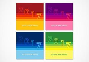 Kleurrijke Paper 2017 Vector Achtergronden Pack