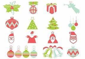Kerst vector elementen pack