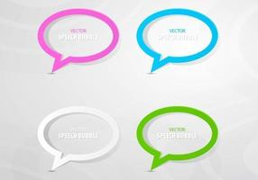 Kleurrijke geschetst toespraak Bubble Vector Pack