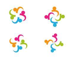 Gemeenschap, netwerk en sociale pictogram