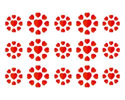 Liefde hartsymbool logo sjablonen