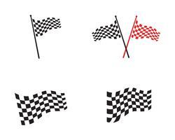 Race vlagpictogram, eenvoudig ontwerp-logo vector