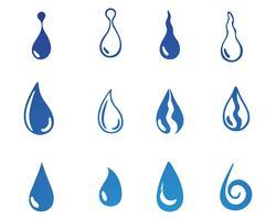 Waterdruppel zwarte n kleur logo's vector