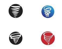 Tornado symbool vectorillustratie vector