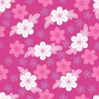 Naadloos purper bloemenbehang vector