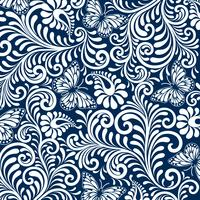 Webseamless bloemmotief achtergrond. Luxe stijl achtergrond. vector illustratie