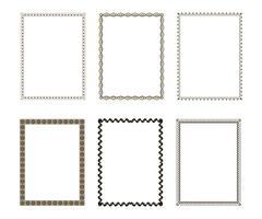 Luxe decoratief frame instellen vector