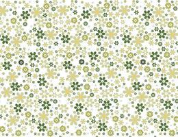 Naadloos groen bloemenbehang vector