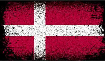 Denemarken Grunge vlag vector