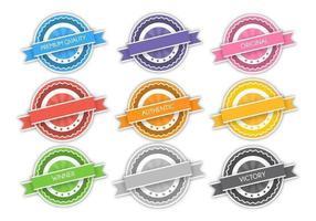 Modern badge vectorpakket vector