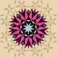 Decoratieve vorm met bloemen vector