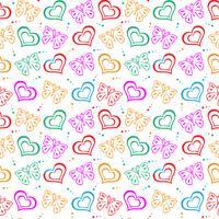 Butterfly love hand getrokken patroon vector