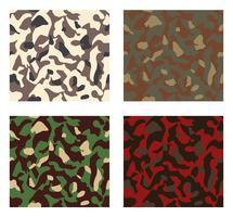 camouflage patroon ontwerp met verschillende kleuren vector
