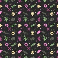 schattige halloween patroon achtergrond
