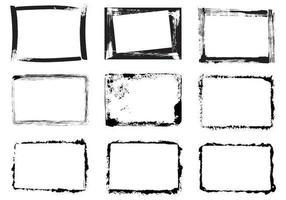 Grunge frame vector pack