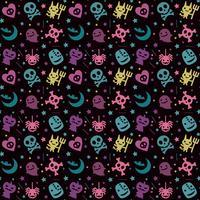 schattig hallowen patroon achtergrond met pastel kleur