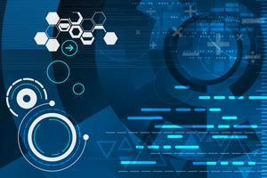Technologie in het concept van berekening. vector