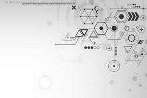 Geometrie in het concept van technologie. vector