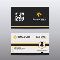 Sjabloon voor modern, creatieve en schone visitekaartjes met oranje zwarte kleur. Volledig bewerkbare vector.