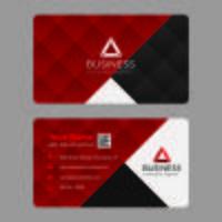 Geometrisch rood visitekaartje