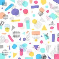 Abstracte geometrische moderne pastelkleurenkleur, zwart puntenpatroon met lijnen diagonaal op witte achtergrond vector