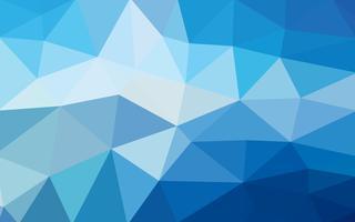 Lichtblauwe vector Lage polykristalachtergrond. Veelhoek ontwerp pa