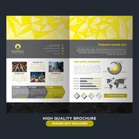 Gele laagpolige brochure vector