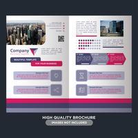 Kleurrijke zakelijke vouwbrochure vector