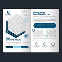 Geometrische zakelijke vouwbrochure