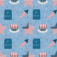 Verenigde Staten naadloos patroon vector