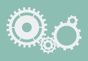 Radertjes en versnellingen pictogram engineering vector in blauw op geïsoleerde achtergrond
