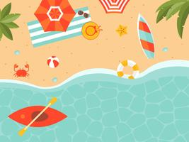 Zomervakantie, zomer strand poster vectorillustratie