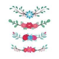 Mooie bloemenverdelers vector