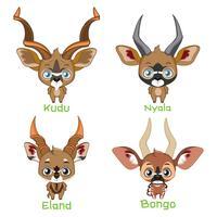 Spiraal gehoornde antilopen soorten