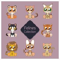 Verzameling van cute felines