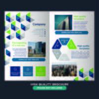 Kleurrijke geometrische zakelijke vouwen Brochure