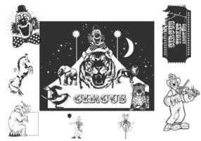 Retro circus vectorpakket