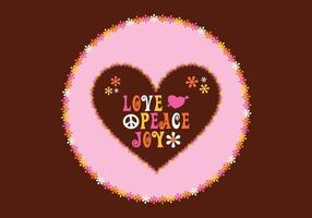 Groovy love background vector
