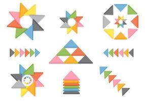 3D-driehoek vector pack