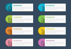 Infographic tag vector pack