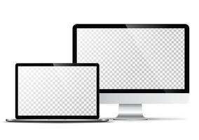 Elektronisch vectormodel Moderne technologie, smartphones, tablets, computers en notebooks vector