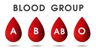 Rode bloeddruppels en bloeddonaties door bloed. vector