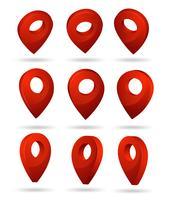 Pin-symbool Geeft de locatie van de GPS-kaart aan. vector